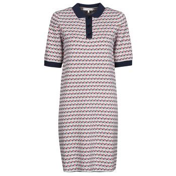 tekstylia Damskie Sukienki krótkie Tommy Hilfiger TH CUBE SHIFT SHORT DRESS SS Biały / Czerwony / Marine
