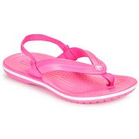 Buty Dziewczynka Japonki Crocs CROCBAND STRAP FLIP K Różowy