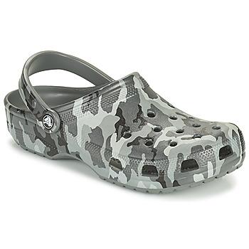 Buty Męskie Chodaki Crocs CLASSIC PRINTED CAMO CLOG Camouflage / Szary