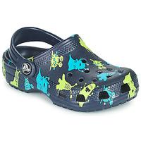 Buty Chłopiec Chodaki Crocs CLASSIC MONSTER PRINT CLOG T Niebieski