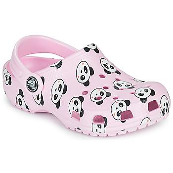 Buty Dziewczynka Chodaki Crocs CLASSIC PANDA PRINT CLOG K Różowy