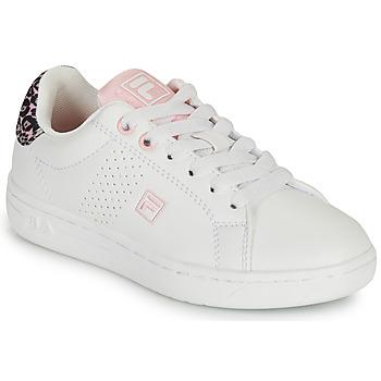 Buty Dziewczynka Trampki niskie Fila CROSSCOURT 2 NT KIDS Biały / Różowy