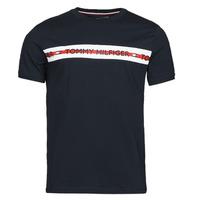 tekstylia Męskie T-shirty z krótkim rękawem Tommy Hilfiger CN SS TEE LOGO Marine