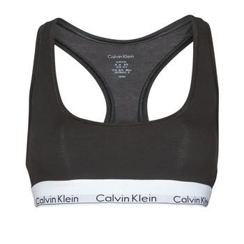 Bielizna Damskie Biustonosze  Calvin Klein Jeans MODERN COTTON UNLINED BRALETTE Czarny