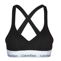 Bielizna Damskie Biustonosze  Calvin Klein Jeans MODERN COTTON BRALETTE LIFT Czarny