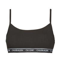 Bielizna  Damskie Biustonosze  Calvin Klein Jeans UNLINED BRALETTE Czarny