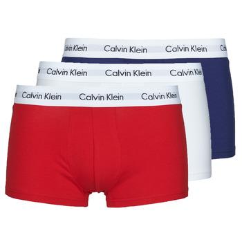 Bielizna  Męskie Bokserki Calvin Klein Jeans RISE TRUNK X3 Marine / Biały / Czerwony