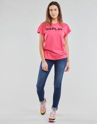 tekstylia Damskie Jeansy skinny Replay NEW LUZ Niebieski / Moyen