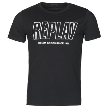 tekstylia Męskie T-shirty z krótkim rękawem Replay M3395-2660 Czarny