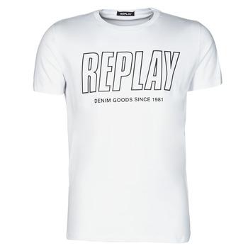 tekstylia Męskie T-shirty z krótkim rękawem Replay M3395-2660 Biały