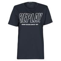tekstylia Męskie T-shirty z krótkim rękawem Replay M3395-2660 Marine