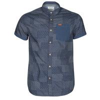 tekstylia Męskie Koszule z krótkim rękawem Deeluxe ETHNIC Marine