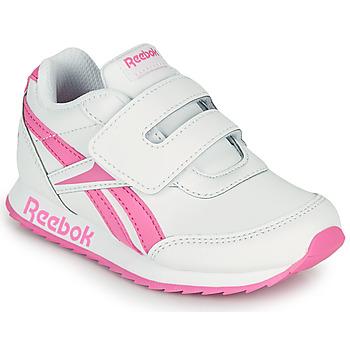 Buty Dziewczynka Trampki niskie Reebok Classic REEBOK ROYAL CLJOG 2 KC Biały / Różowy