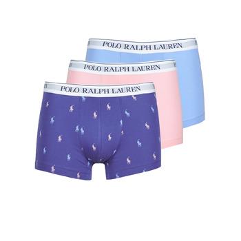 Bielizna  Męskie Bokserki Polo Ralph Lauren CLASSIC TRUNK X3 Różowy / Niebieski / Marine