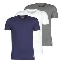 tekstylia Męskie T-shirty z krótkim rękawem Polo Ralph Lauren SS CREW NECK X3 Marine / Szary / Biały