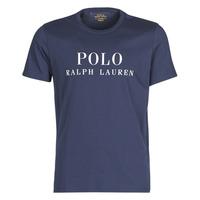 tekstylia Męskie T-shirty z krótkim rękawem Polo Ralph Lauren SS CREW Marine