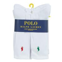 Dodatki Męskie Skarpetki sportowe  Polo Ralph Lauren ASX110 6 PACK COTTON Biały