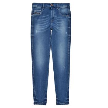 tekstylia Dziewczynka Jeansy skinny Diesel D-SLANDY HIGH Niebieski