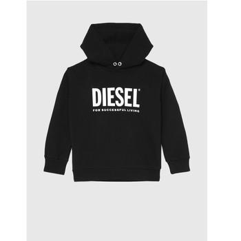 tekstylia Dziecko Bluzy Diesel SDIVISION LOGO Czarny