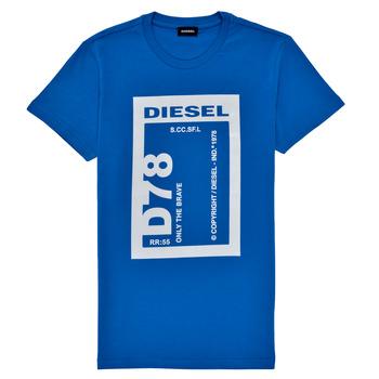 tekstylia Chłopiec T-shirty z krótkim rękawem Diesel TFULL78 Niebieski