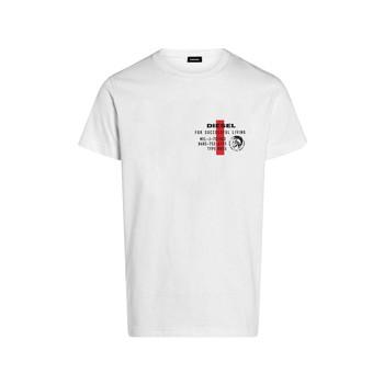 tekstylia Chłopiec T-shirty z krótkim rękawem Diesel TDIEGOS Biały