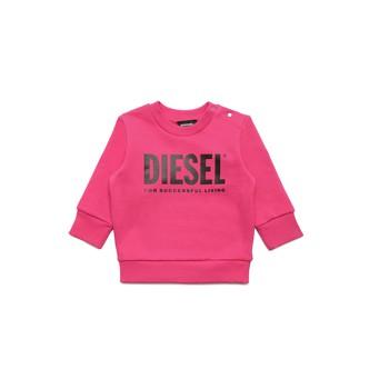 tekstylia Dziewczynka Bluzy Diesel SCREWDIVISION LOGOB Różowy