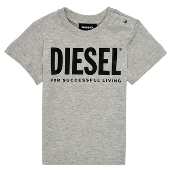 tekstylia Dziecko T-shirty z krótkim rękawem Diesel TJUSTLOGOB Szary