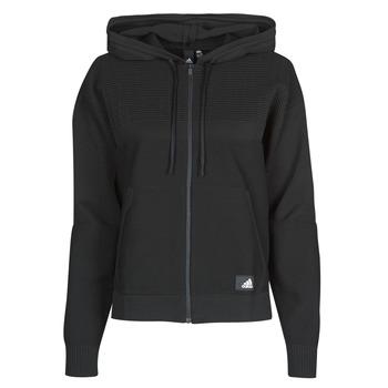 tekstylia Damskie Bluzy adidas Performance W Knit V Hoodie Czarny