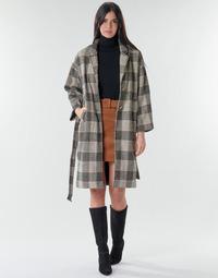 tekstylia Damskie Płaszcze Betty London NIOULOOK Czarny / Beżowy