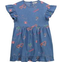 tekstylia Dziewczynka Sukienki krótkie Billieblush / Billybandit U12640-Z10 Niebieski