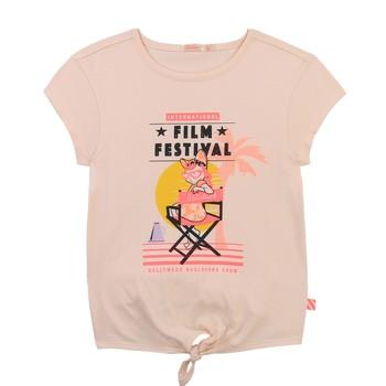 tekstylia Dziewczynka T-shirty z krótkim rękawem Billieblush / Billybandit U15852-44F Różowy