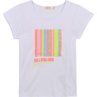 tekstylia Dziewczynka T-shirty z krótkim rękawem Billieblush U15857-10B Biały