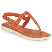 Buty Damskie Japonki Melissa FLASH SANDAL & SALINAS Pomarańczowy / Beżowy