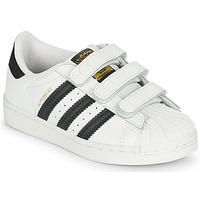 Buty Dziecko Trampki niskie adidas Originals SUPERSTAR CF C Biały / Czarny