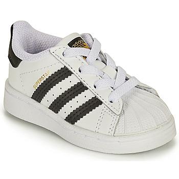 Buty Dziecko Trampki niskie adidas Originals SUPERSTAR EL I Biały / Czarny