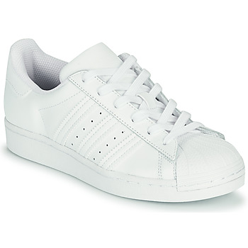 Buty Dziecko Trampki niskie adidas Originals SUPERSTAR J Biały