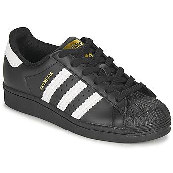 Buty Dziecko Trampki niskie adidas Originals SUPERSTAR J Czarny / Biały