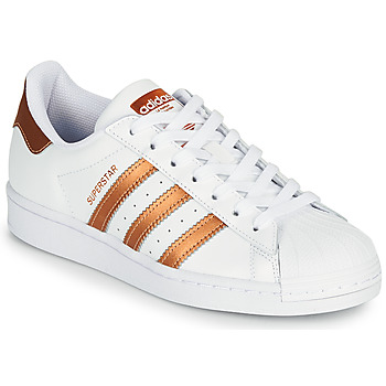 Buty Damskie Trampki niskie adidas Originals SUPERSTAR W Biały / Brąz