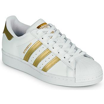 Buty Damskie Trampki niskie adidas Originals SUPERSTAR W Biały / Złoty