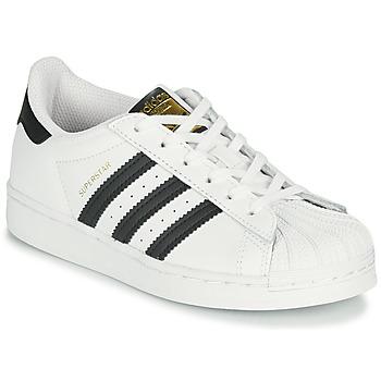 Buty Dziecko Trampki niskie adidas Originals SUPERSTAR C Biały / Czarny