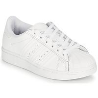 Buty Dziecko Trampki niskie adidas Originals SUPERSTAR C Biały