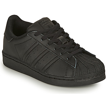 Buty Dziecko Trampki niskie adidas Originals SUPERSTAR C Czarny