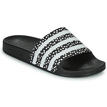 Buty Damskie klapki adidas Originals ADILETTE W Czarny / Biały