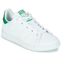 Buty Dziecko Trampki niskie adidas Originals STAN SMITH C SUSTAINABLE Biały / Zielony