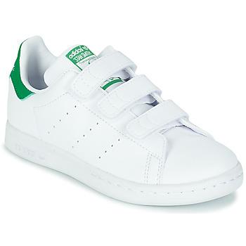 Buty Dziecko Trampki niskie adidas Originals STAN SMITH CF C SUSTAINABLE Biały / Zielony / Vegan