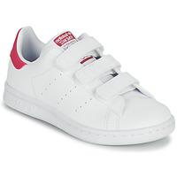 Buty Dziewczynka Trampki niskie adidas Originals STAN SMITH CF C SUSTAINABLE Biały / Różowy