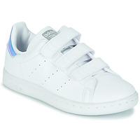 Buty Dziewczynka Trampki niskie adidas Originals STAN SMITH CF C SUSTAINABLE Biały / Tęczowy