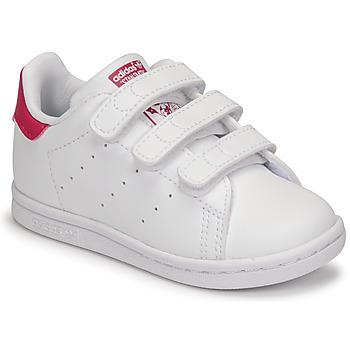 Buty Dziewczynka Trampki niskie adidas Originals STAN SMITH CF I SUSTAINABLE Biały / Różowy