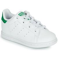 Buty Dziecko Trampki niskie adidas Originals STAN SMITH EL I SUSTAINABLE Biały / Zielony
