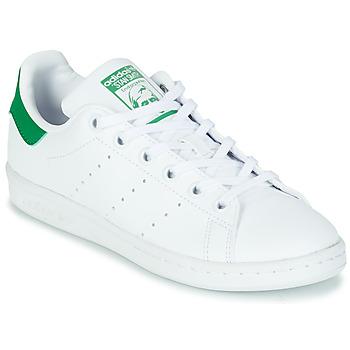 Buty Dziecko Trampki niskie adidas Originals STAN SMITH J SUSTAINABLE Biały / Zielony